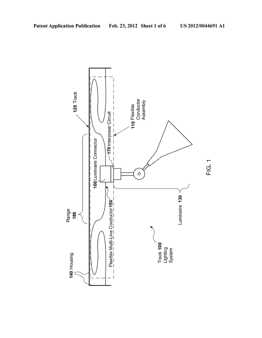 LED TRACK LIGHTING WITH FLEXIBLE CIRCUIT - diagram, schematic, and image 02