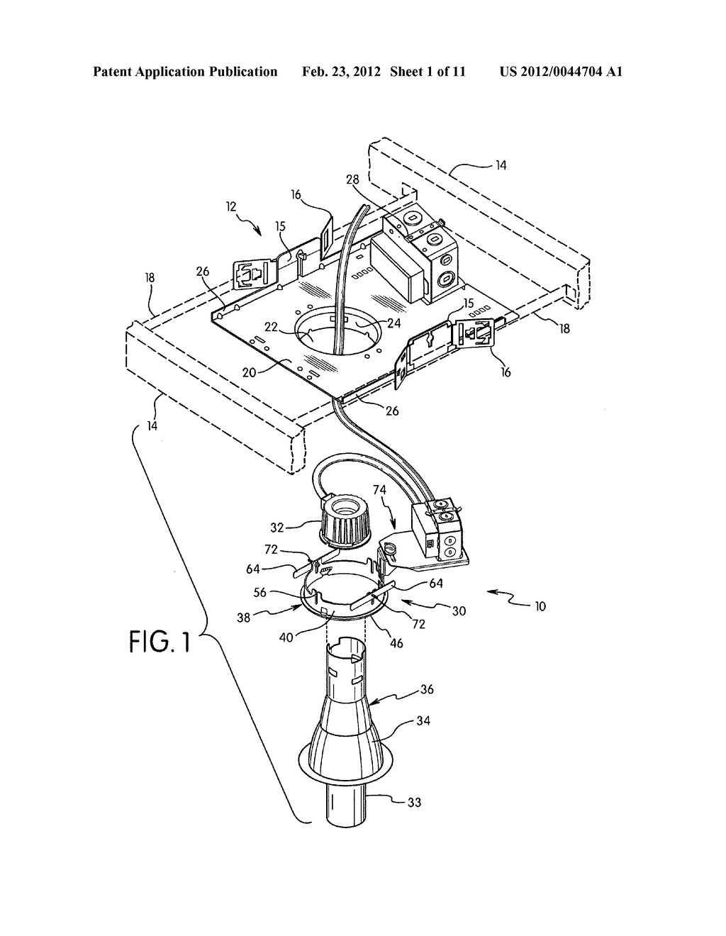 Electrical Box And Ballast Mounting Assembly For Retrofitting Junction Wiring Diagram Light Fixture Recessed Lighting Fixtures Schematic Image 02