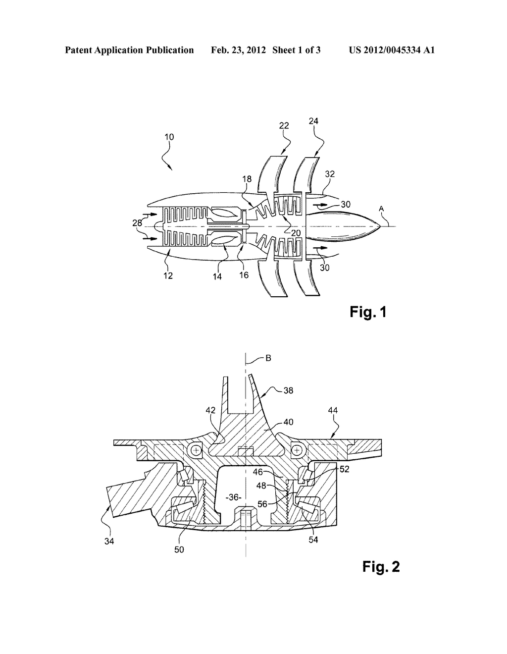 UNDUCTED FAN WITH VARIABLE-PITCH BLADES FOR A TURBINE ENGINE - diagram,  schematic, and image 02Patents