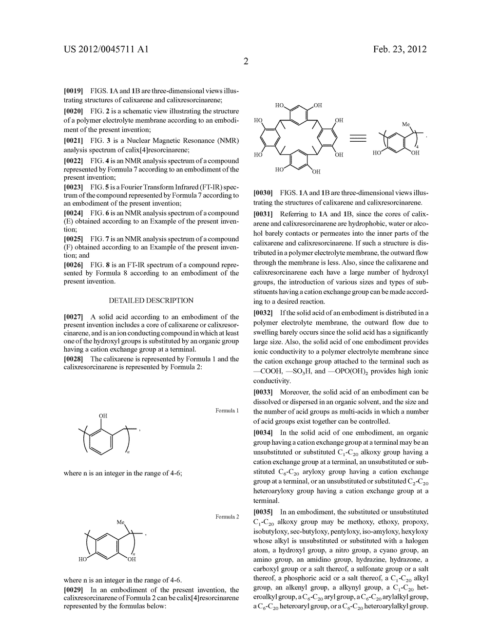 SOLID ACID, POLYMER ELECTROLYTE MEMBRANE INCLUDING THE SAME, AND FUEL CELL     USING THE POLYMER ELECTROLYTE MEMBRANE - diagram, schematic, and image 11