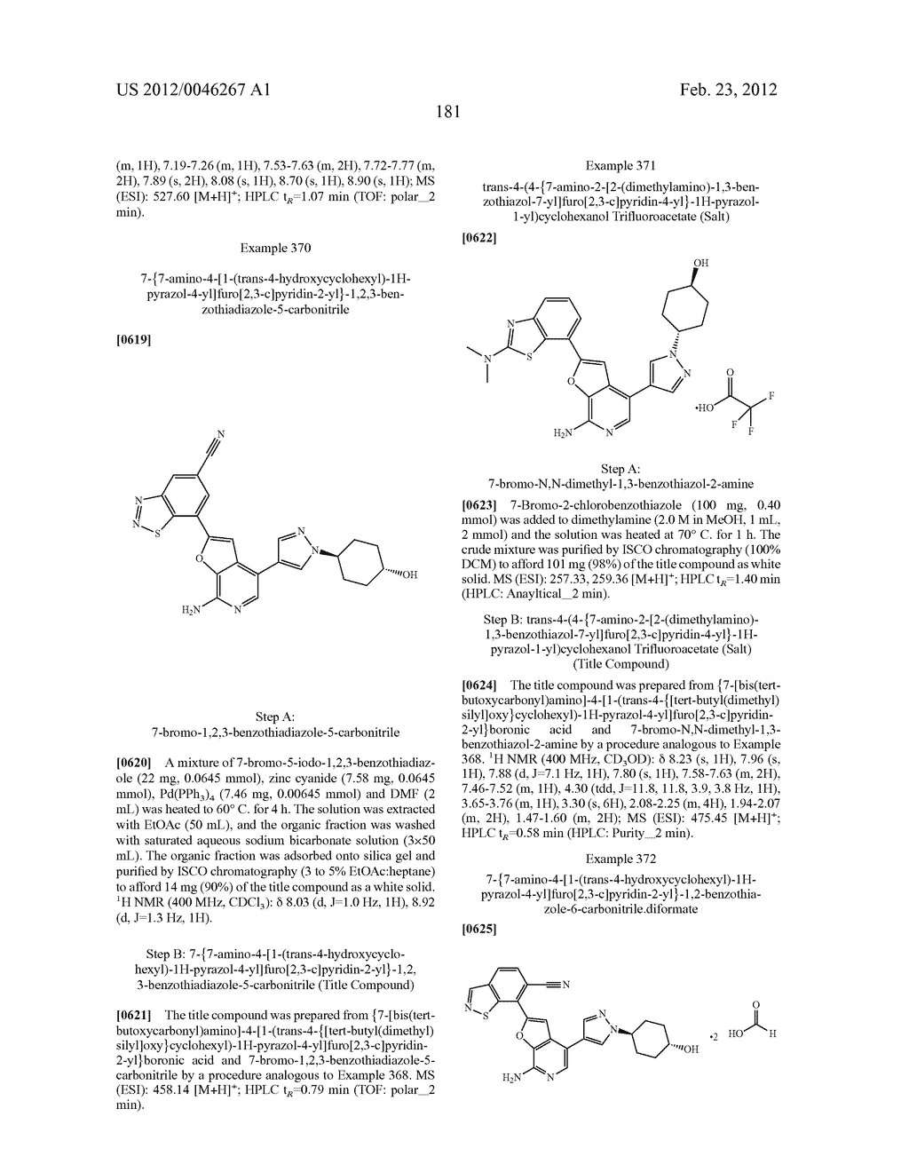 7-AMINOFUROPYRIDINE DERIVATIVES - diagram, schematic, and image 182