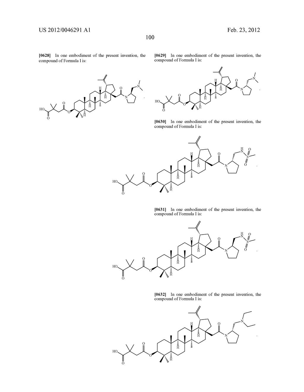 Extended Triterpene Derivatives - diagram, schematic, and image 100