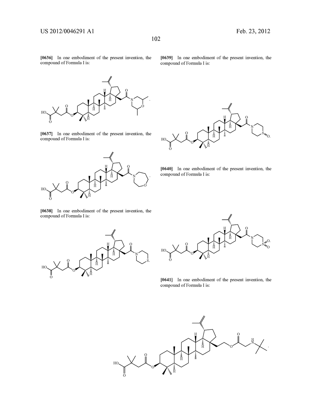 Extended Triterpene Derivatives - diagram, schematic, and image 102