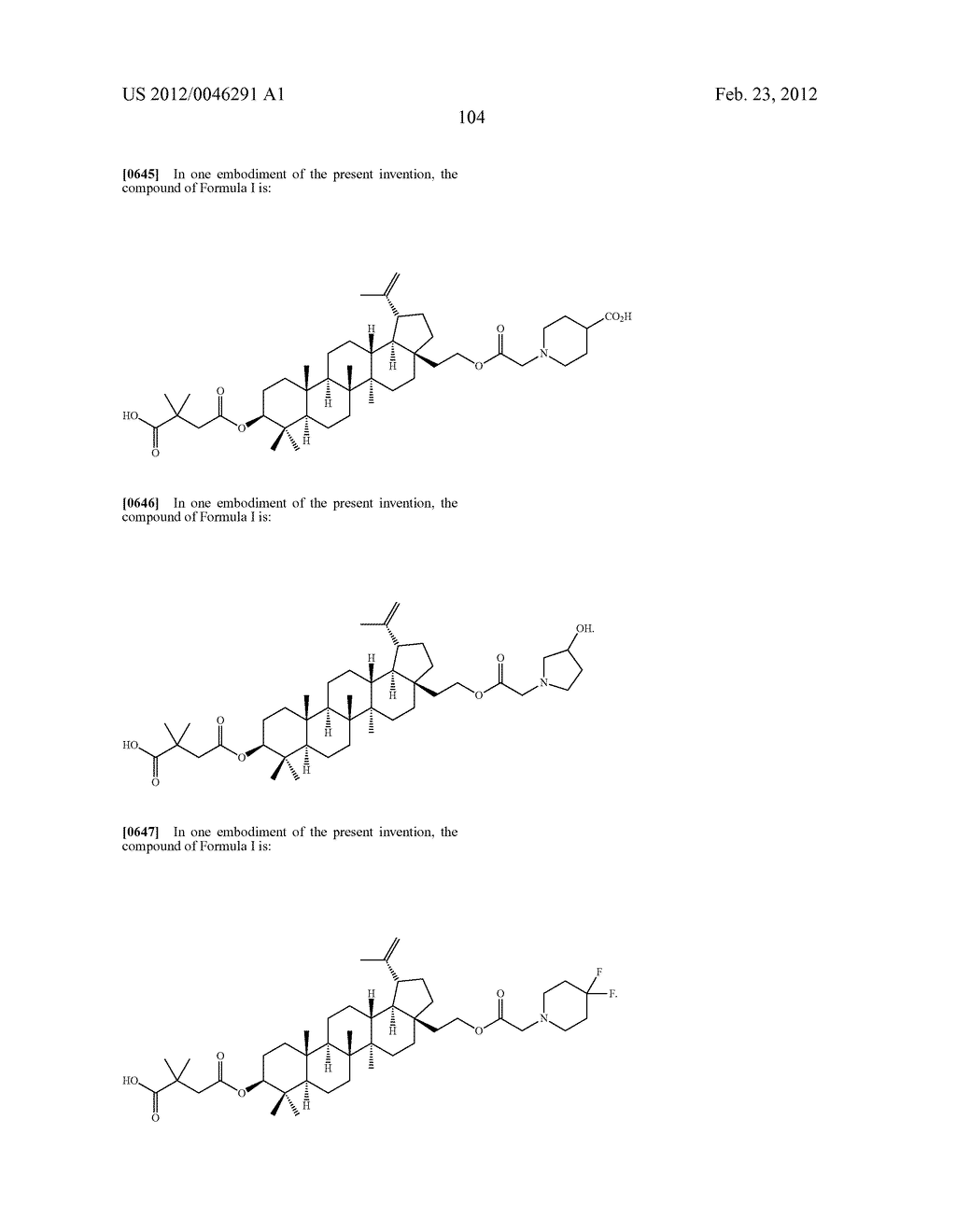 Extended Triterpene Derivatives - diagram, schematic, and image 104