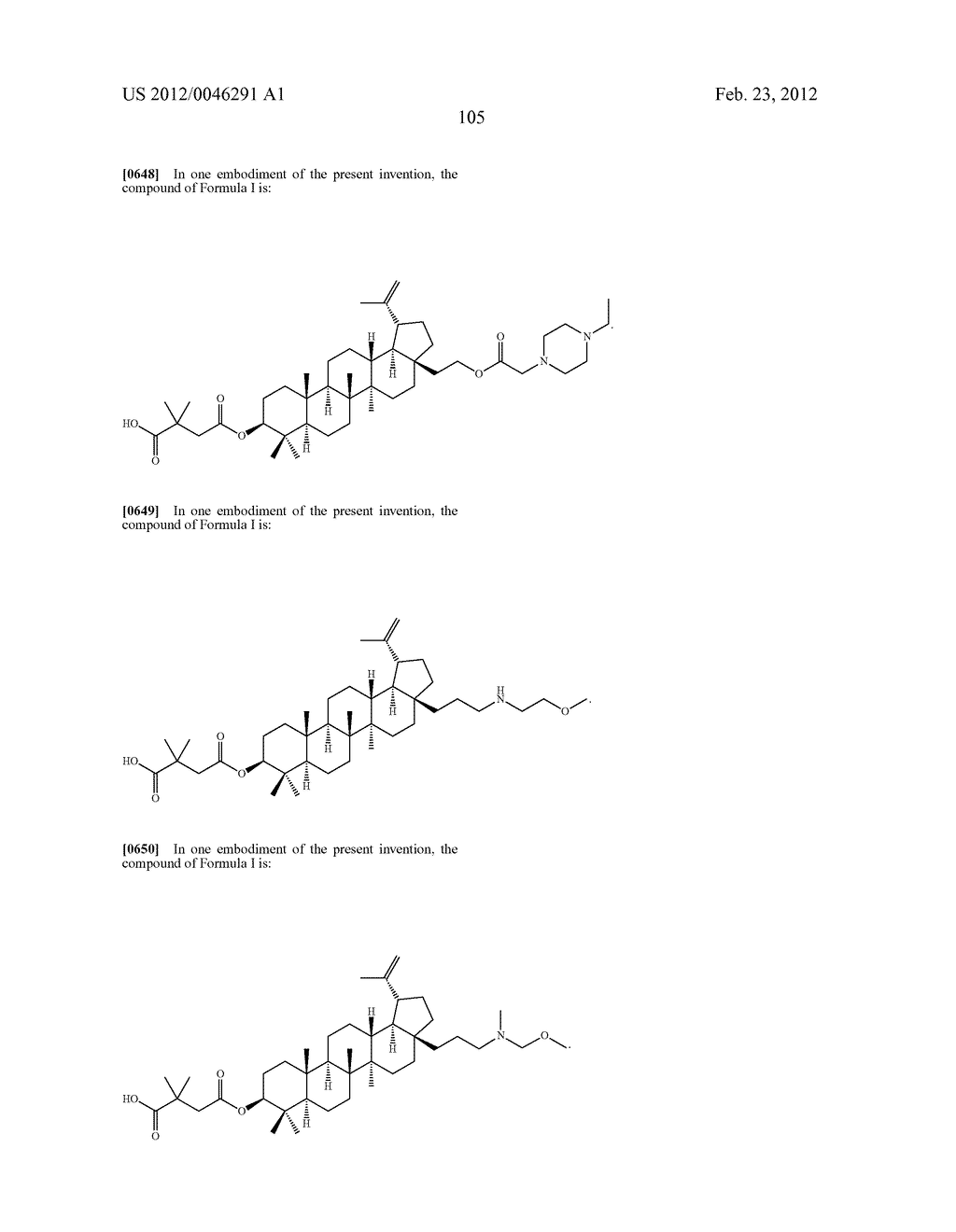 Extended Triterpene Derivatives - diagram, schematic, and image 105