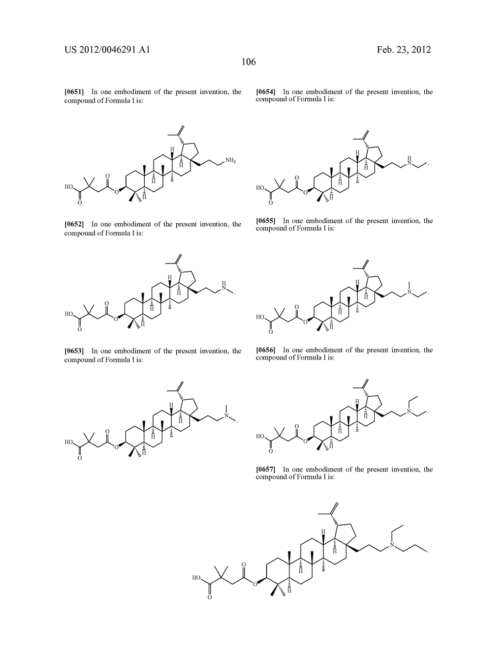 Extended Triterpene Derivatives - diagram, schematic, and image 106