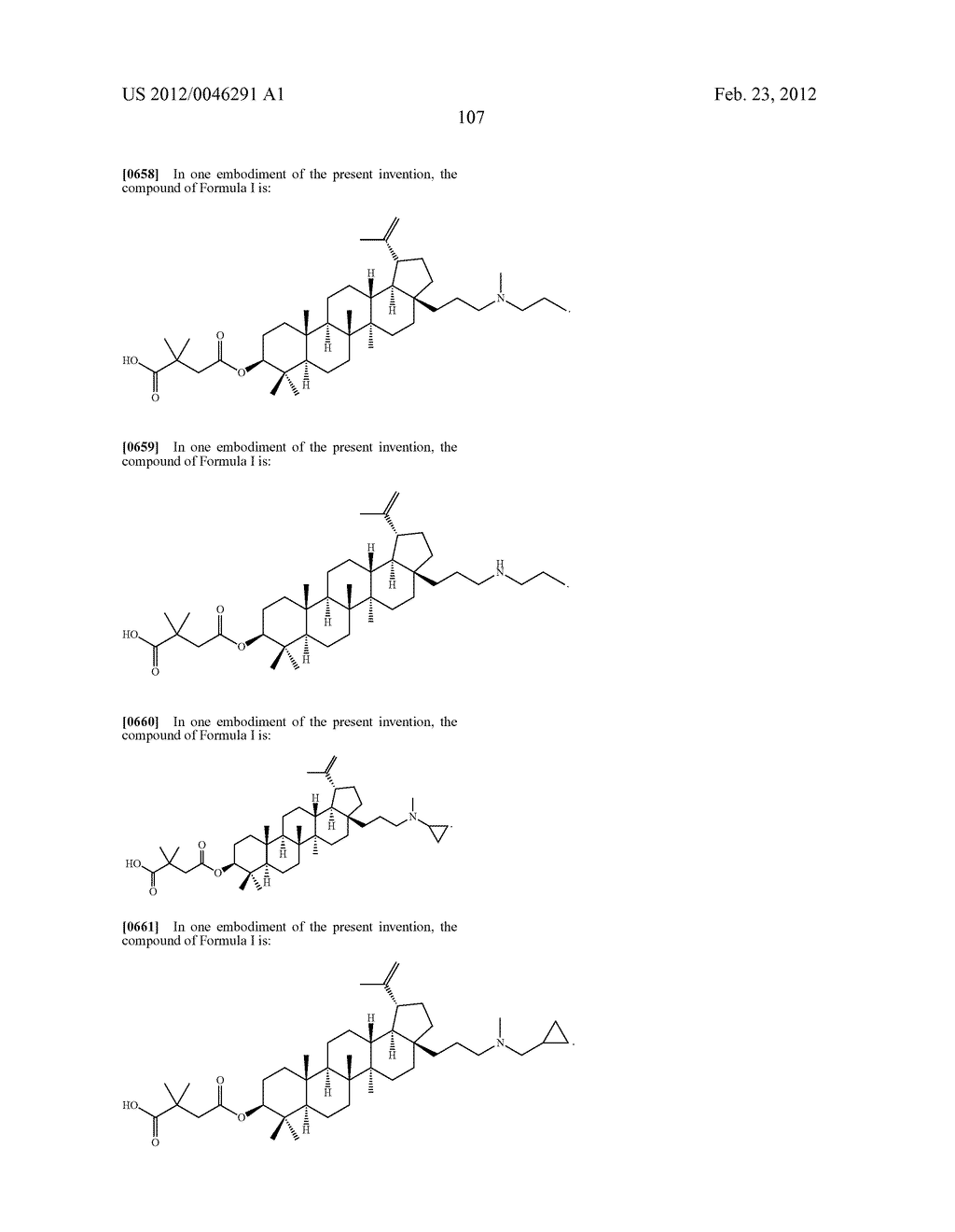 Extended Triterpene Derivatives - diagram, schematic, and image 107