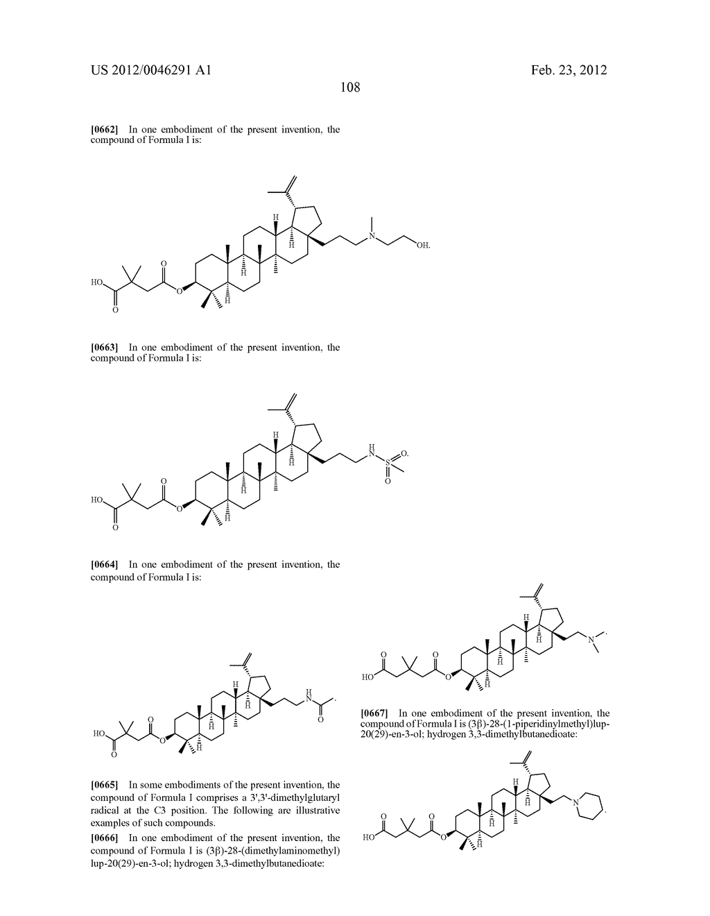 Extended Triterpene Derivatives - diagram, schematic, and image 108