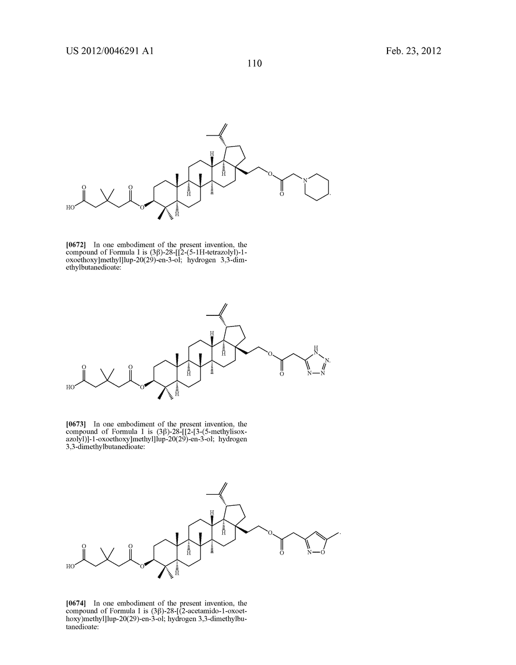 Extended Triterpene Derivatives - diagram, schematic, and image 110