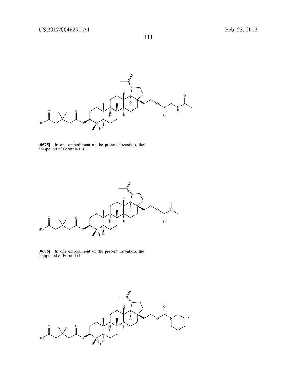 Extended Triterpene Derivatives - diagram, schematic, and image 111
