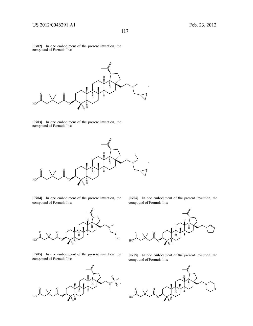 Extended Triterpene Derivatives - diagram, schematic, and image 117