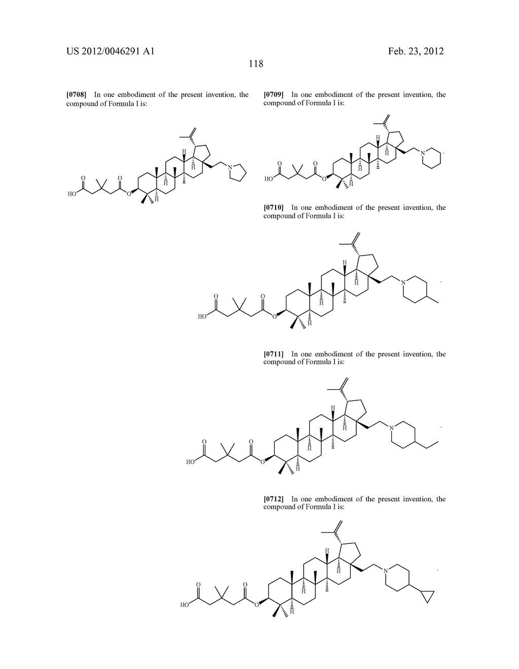 Extended Triterpene Derivatives - diagram, schematic, and image 118