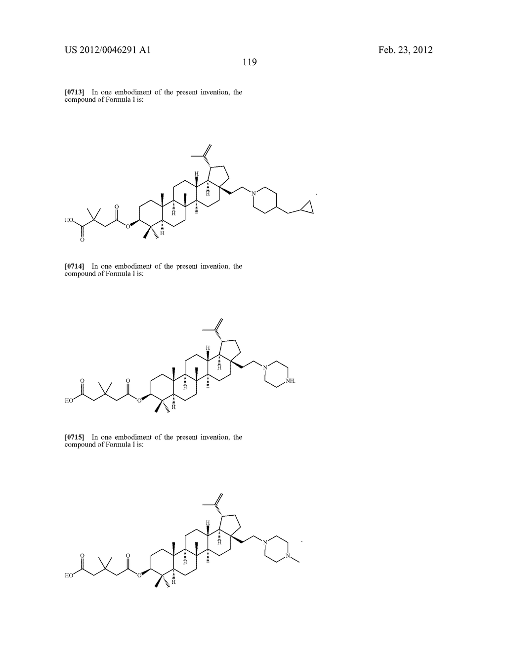 Extended Triterpene Derivatives - diagram, schematic, and image 119