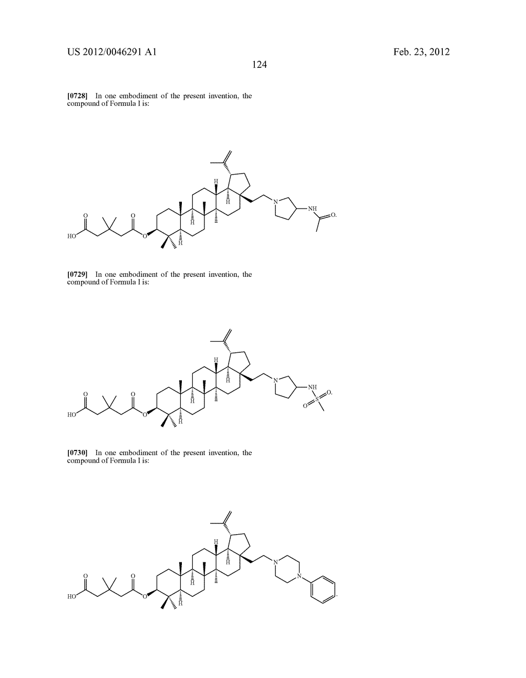 Extended Triterpene Derivatives - diagram, schematic, and image 124