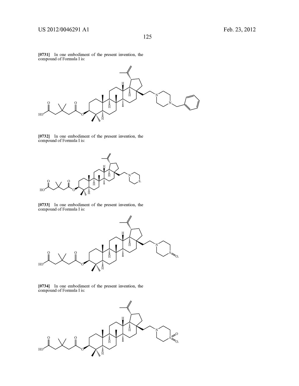 Extended Triterpene Derivatives - diagram, schematic, and image 125