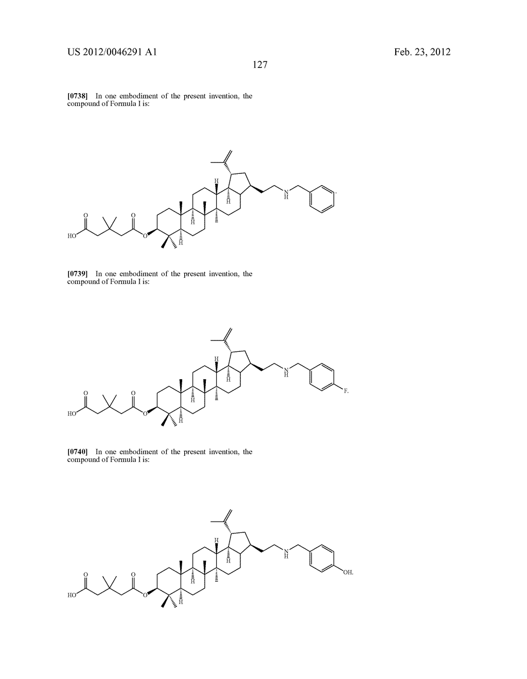 Extended Triterpene Derivatives - diagram, schematic, and image 127
