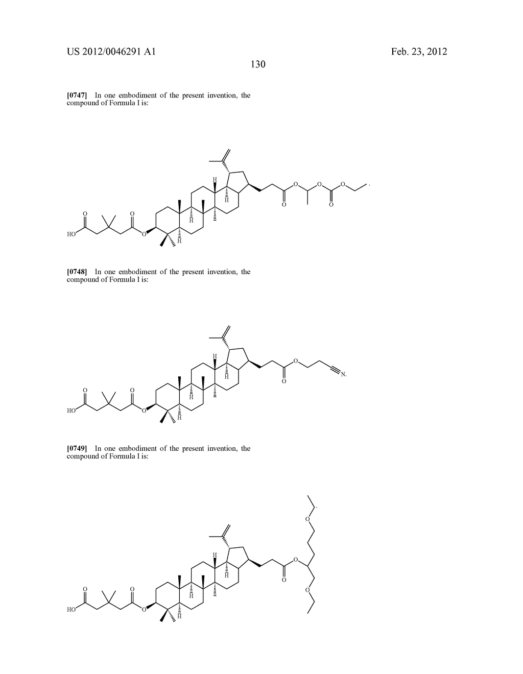 Extended Triterpene Derivatives - diagram, schematic, and image 130