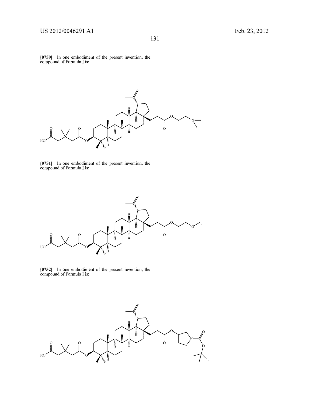 Extended Triterpene Derivatives - diagram, schematic, and image 131