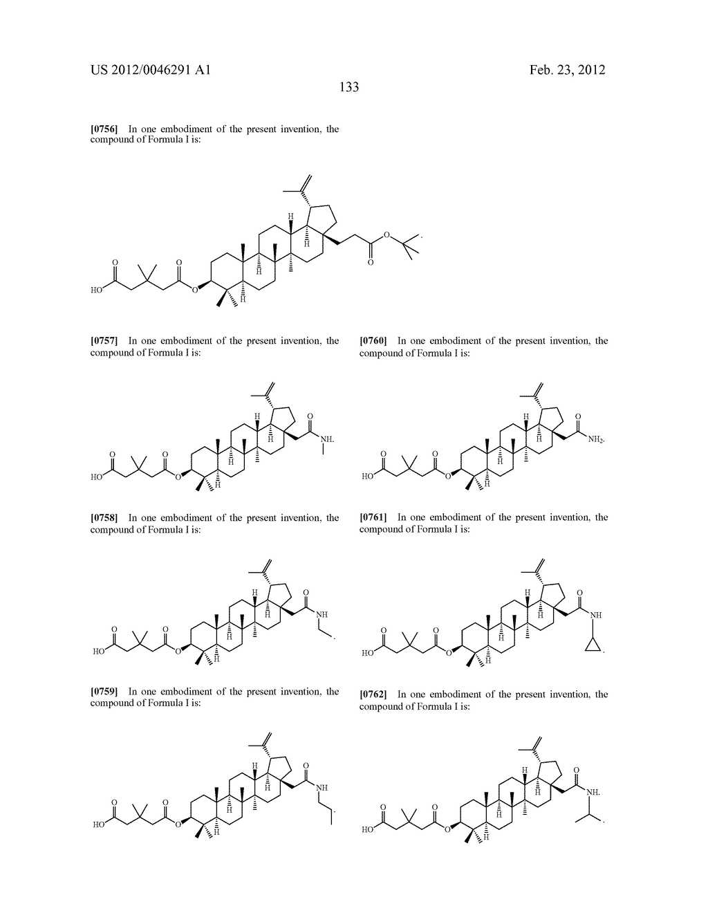 Extended Triterpene Derivatives - diagram, schematic, and image 133