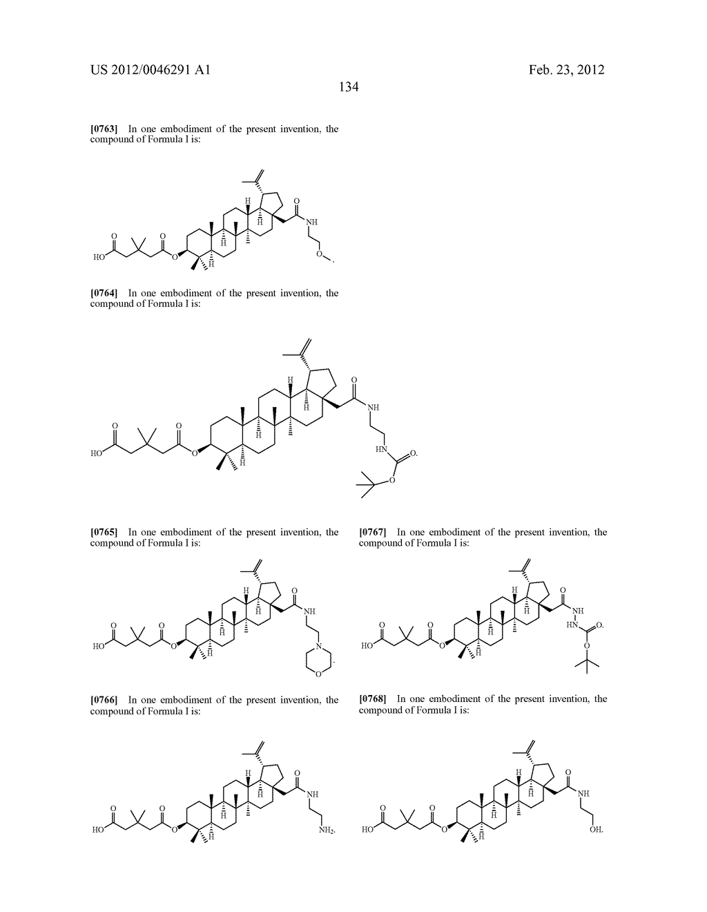 Extended Triterpene Derivatives - diagram, schematic, and image 134