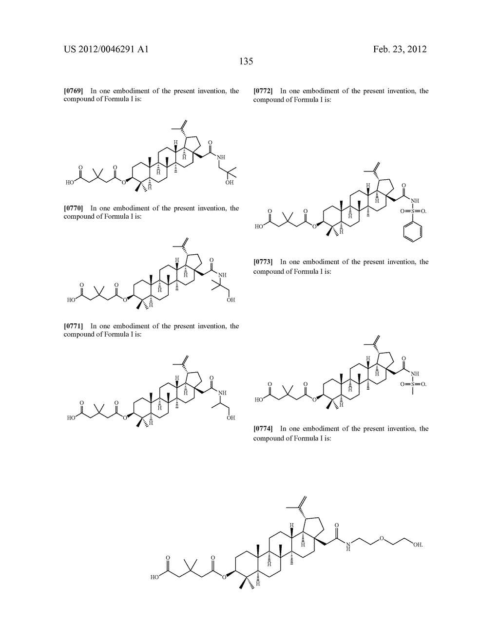 Extended Triterpene Derivatives - diagram, schematic, and image 135
