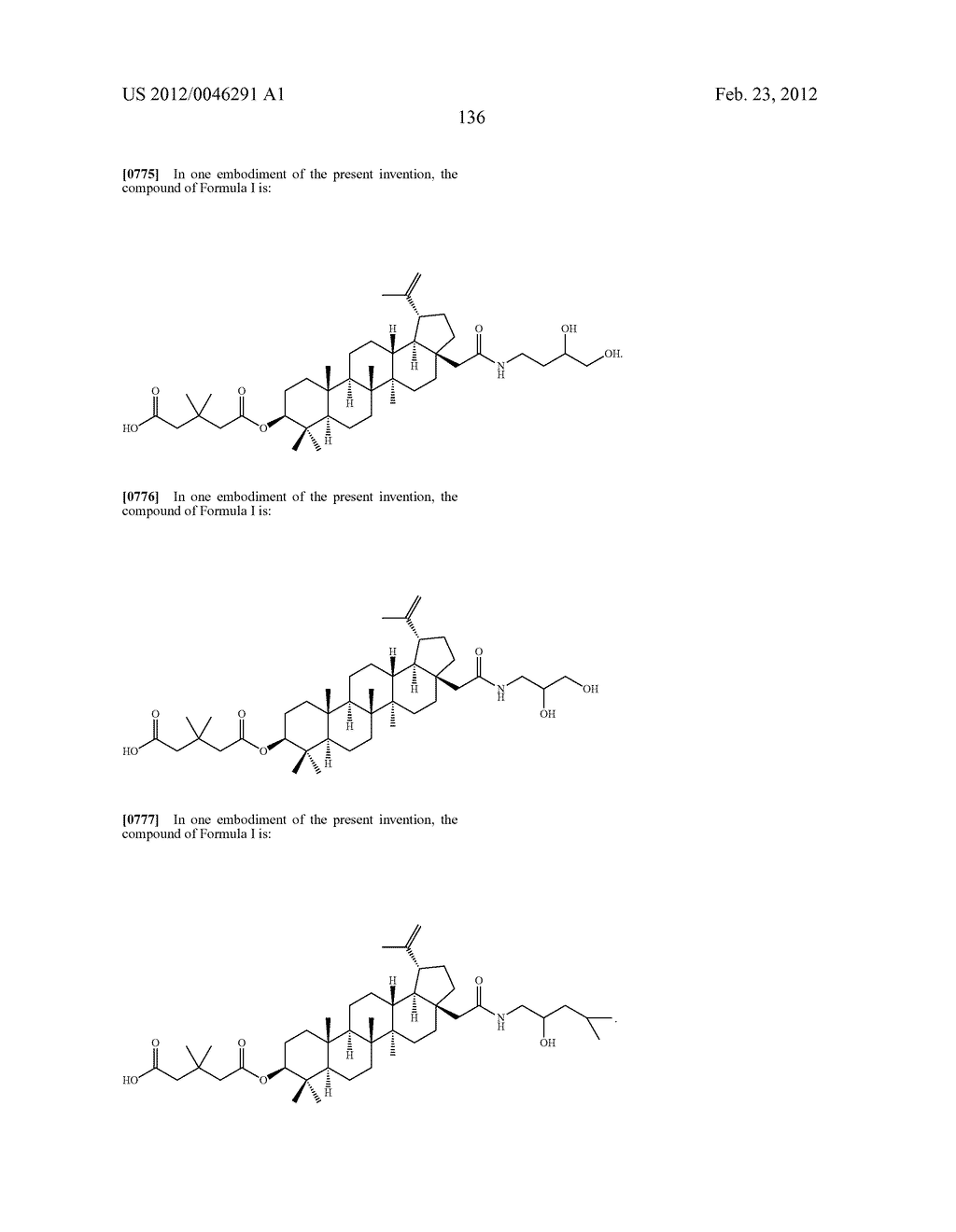 Extended Triterpene Derivatives - diagram, schematic, and image 136