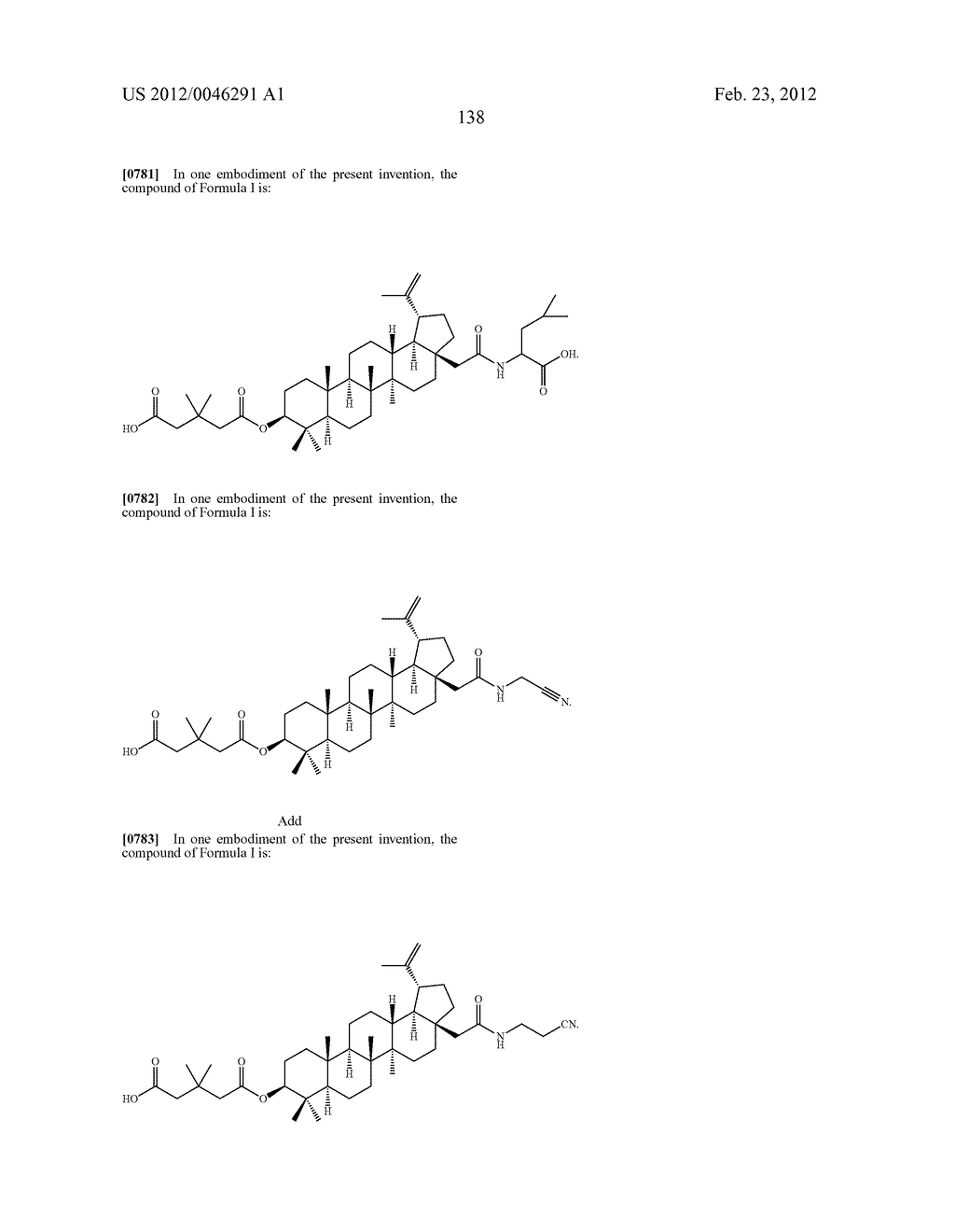 Extended Triterpene Derivatives - diagram, schematic, and image 138