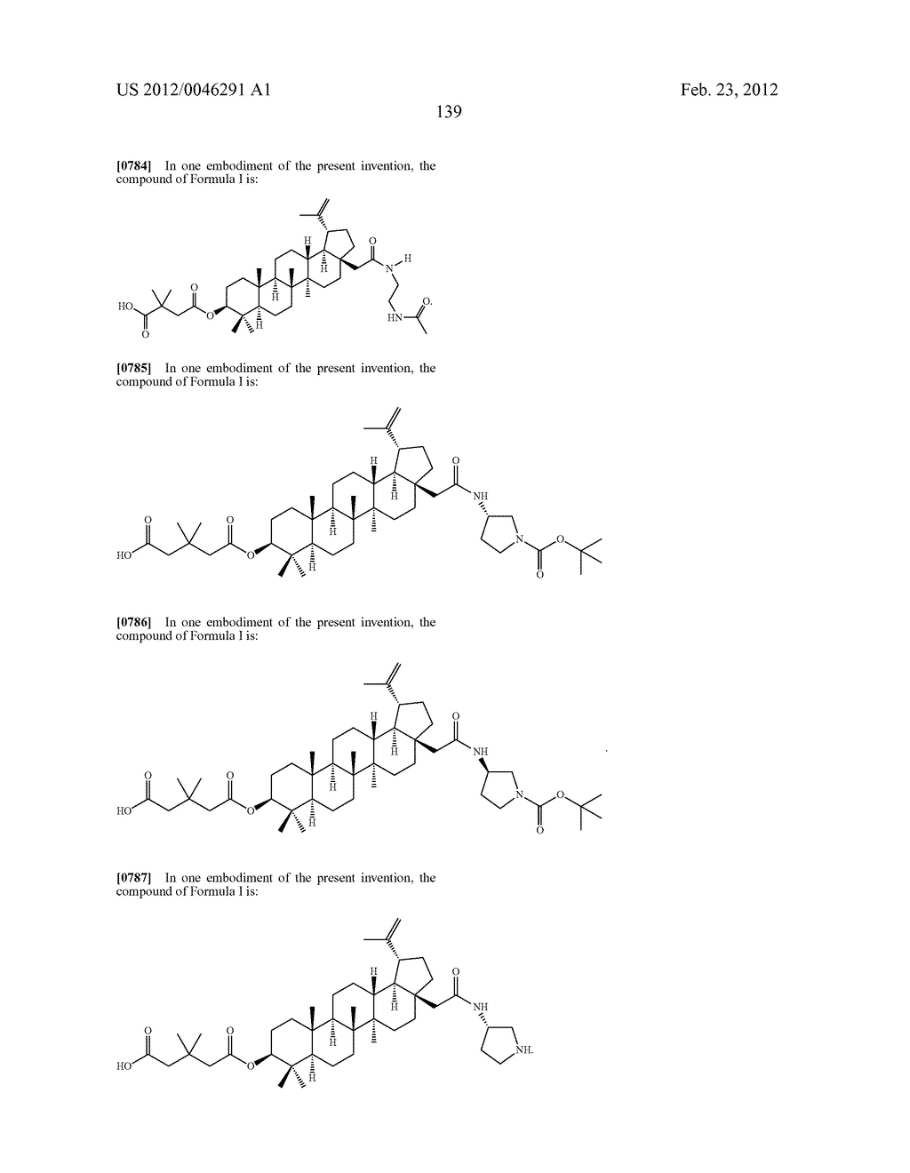 Extended Triterpene Derivatives - diagram, schematic, and image 139