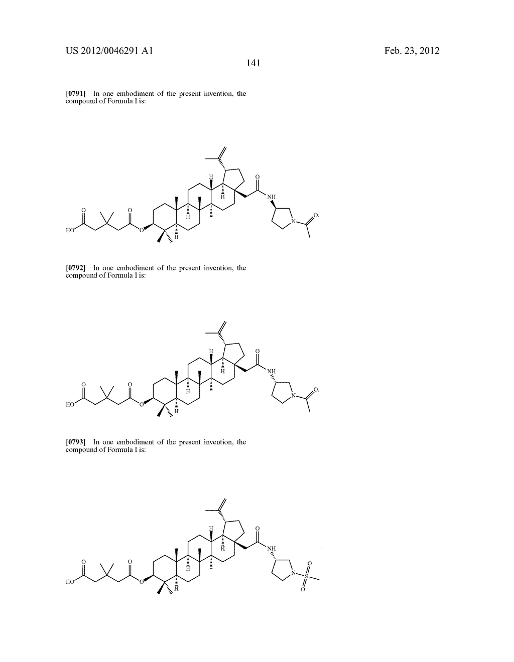 Extended Triterpene Derivatives - diagram, schematic, and image 141