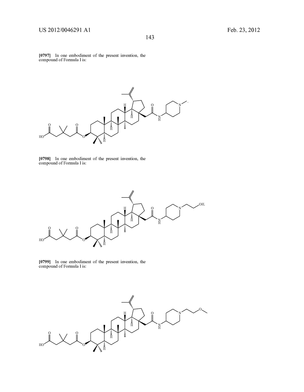 Extended Triterpene Derivatives - diagram, schematic, and image 143