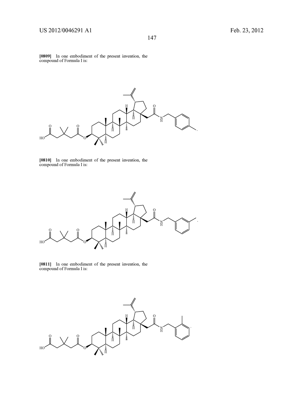 Extended Triterpene Derivatives - diagram, schematic, and image 147