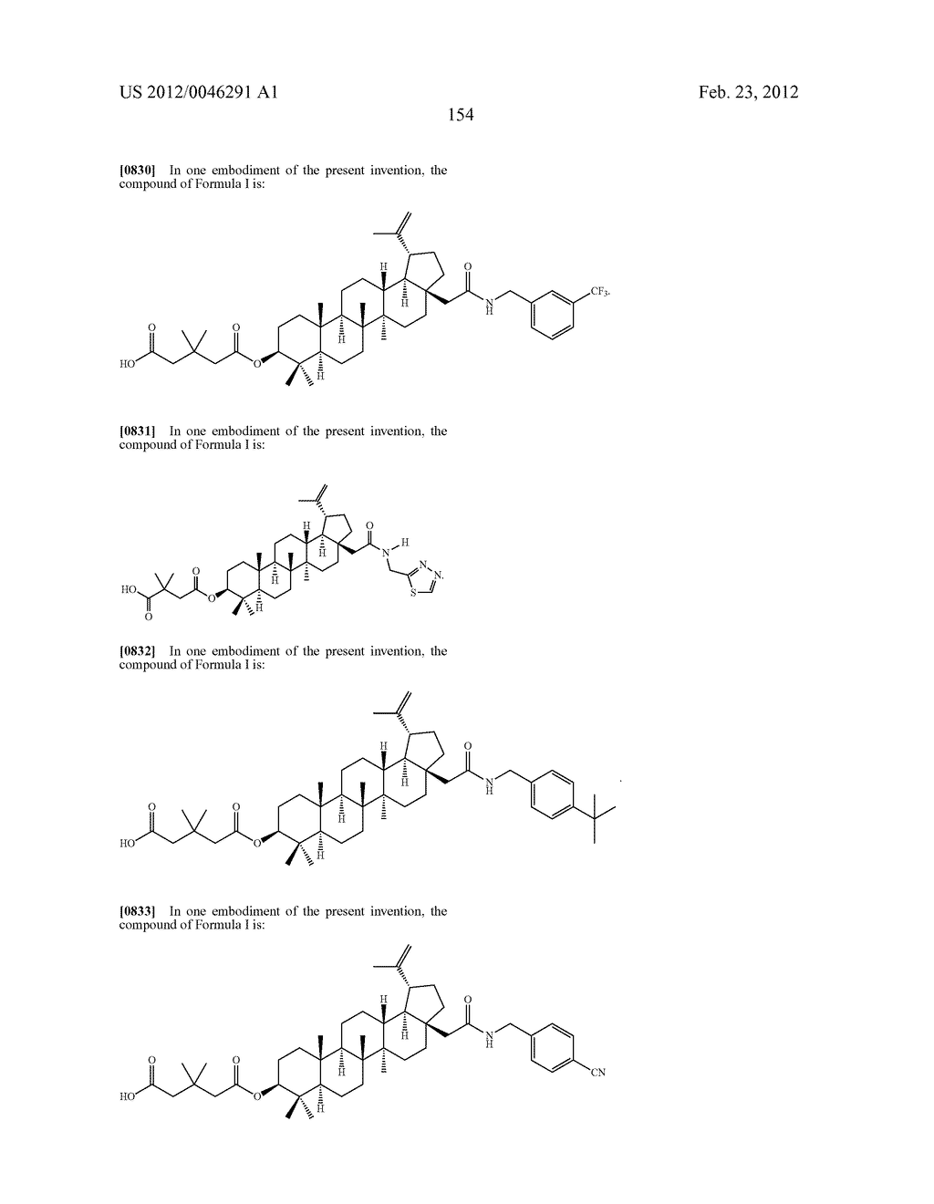 Extended Triterpene Derivatives - diagram, schematic, and image 154