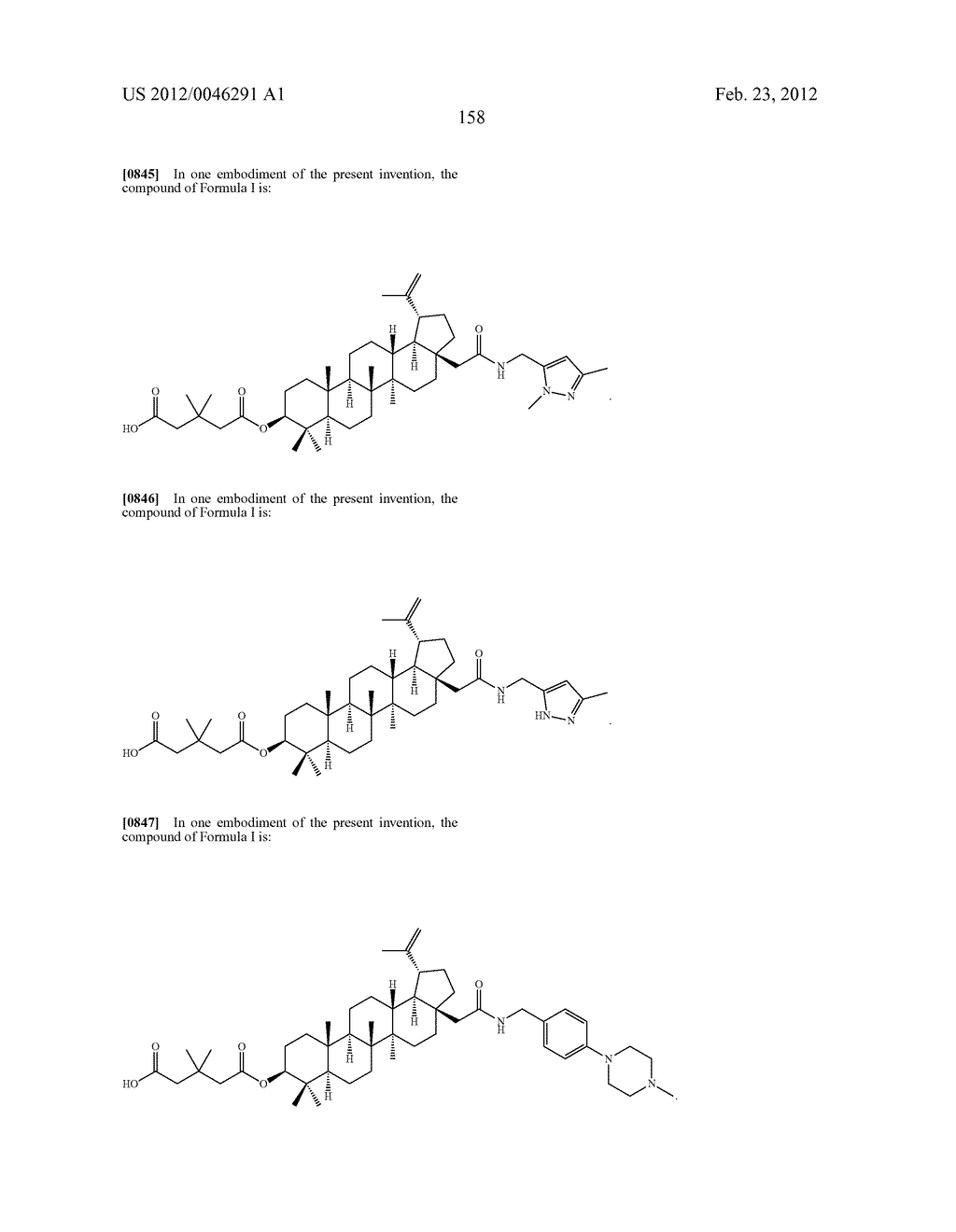 Extended Triterpene Derivatives - diagram, schematic, and image 158