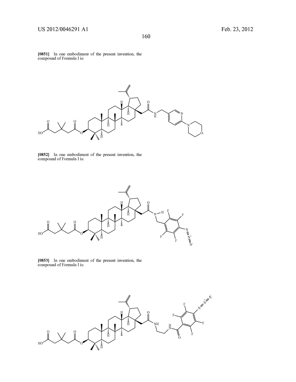Extended Triterpene Derivatives - diagram, schematic, and image 160