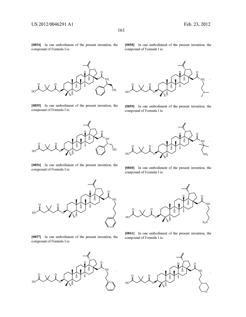 Extended Triterpene Derivatives - diagram, schematic, and image 161