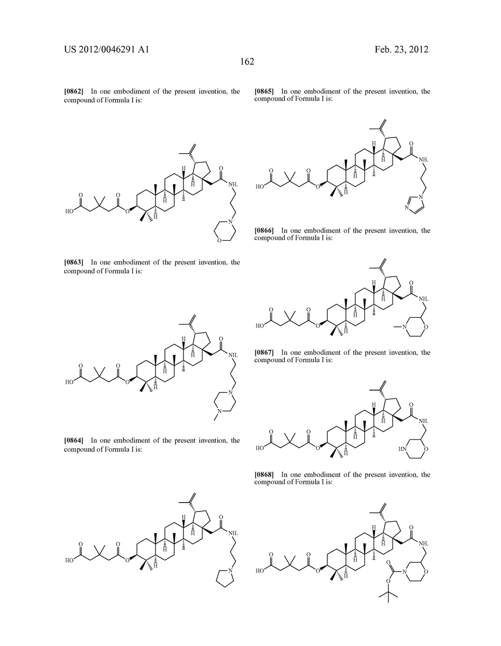Extended Triterpene Derivatives - diagram, schematic, and image 162