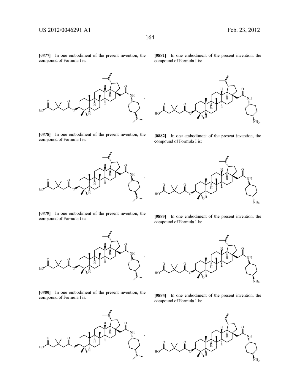 Extended Triterpene Derivatives - diagram, schematic, and image 164