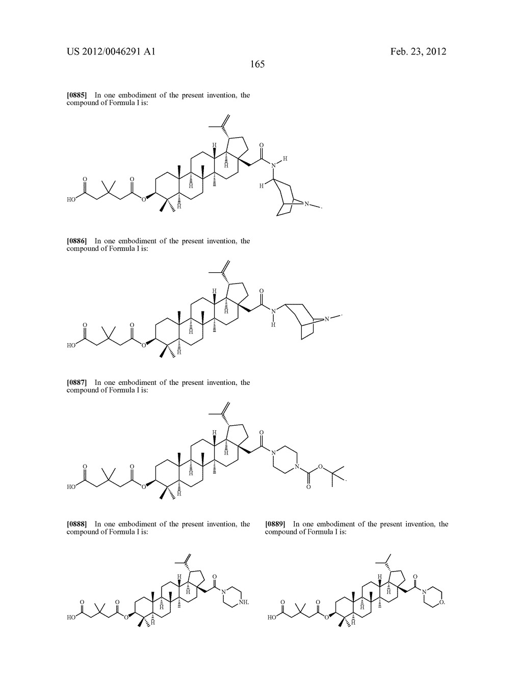 Extended Triterpene Derivatives - diagram, schematic, and image 165