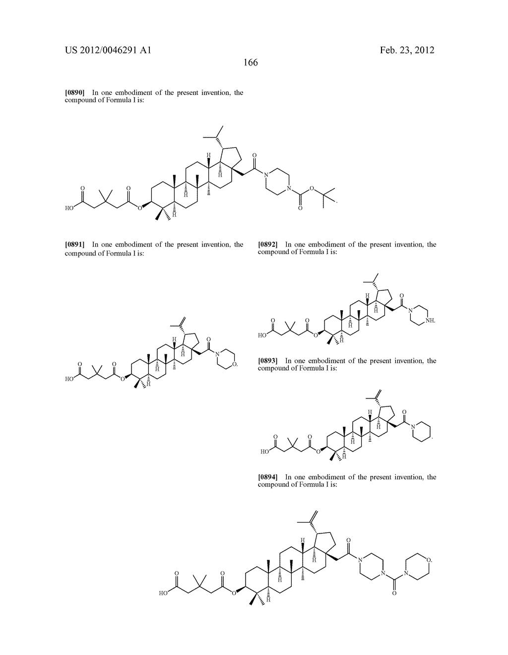 Extended Triterpene Derivatives - diagram, schematic, and image 166
