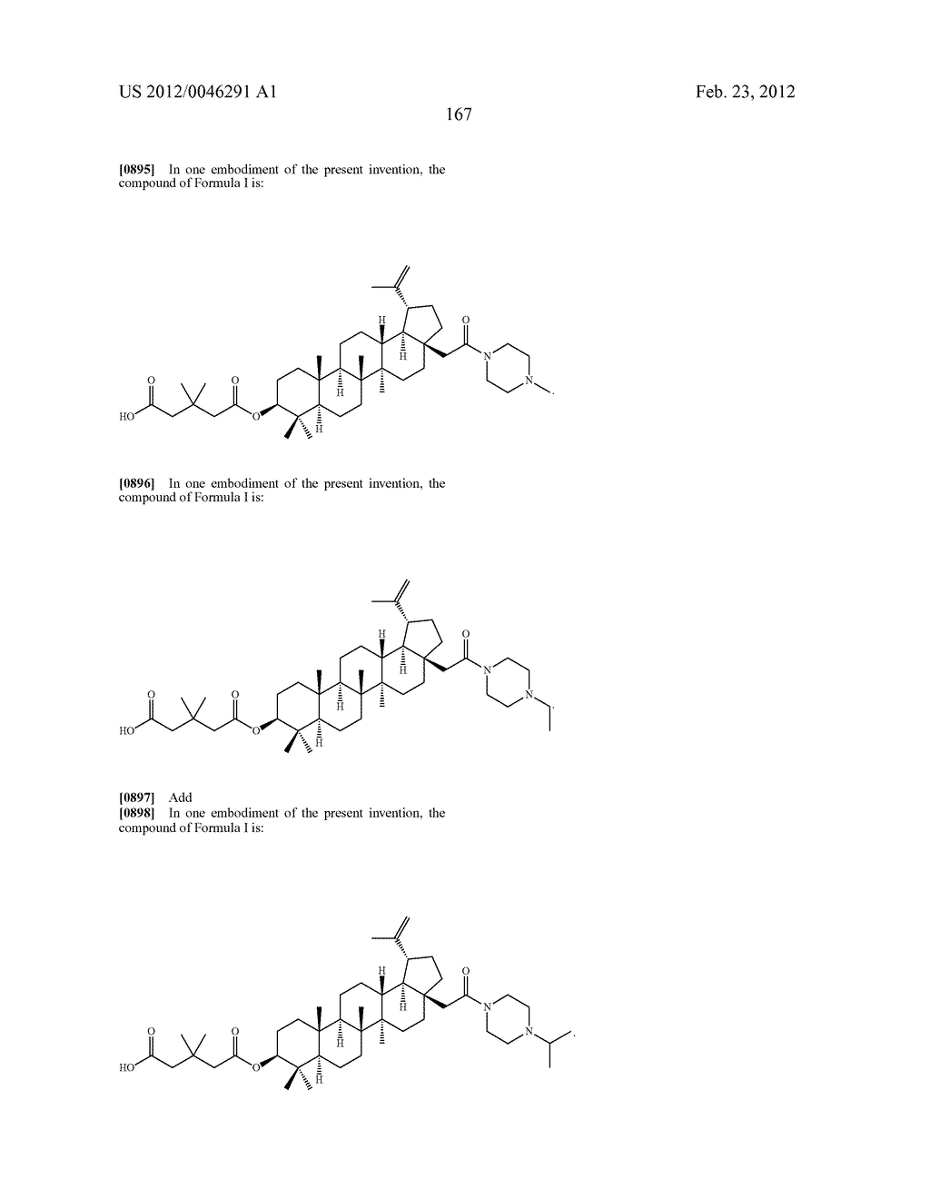 Extended Triterpene Derivatives - diagram, schematic, and image 167