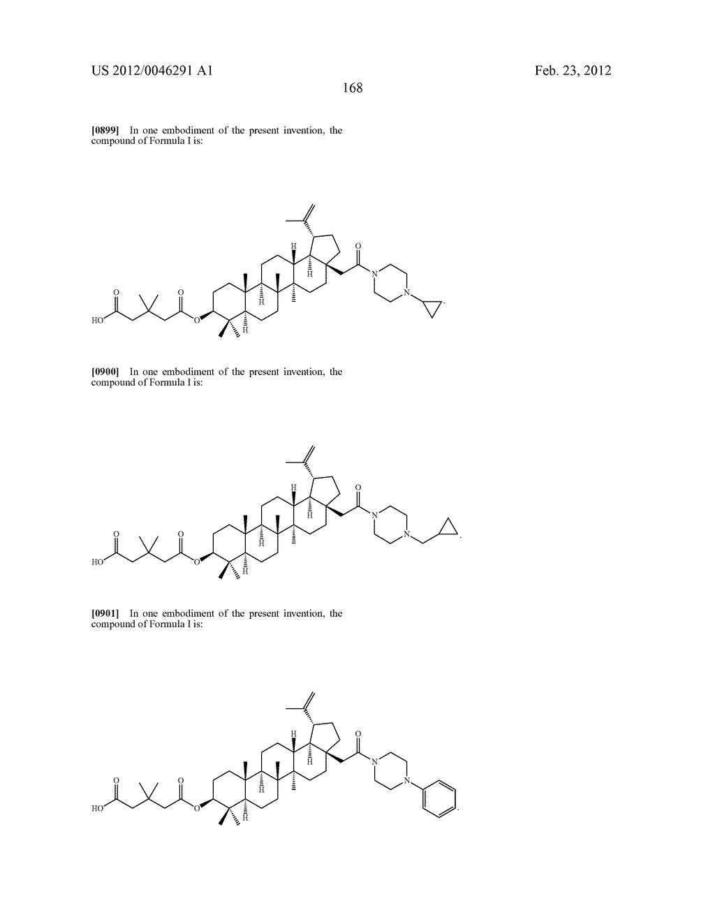 Extended Triterpene Derivatives - diagram, schematic, and image 168