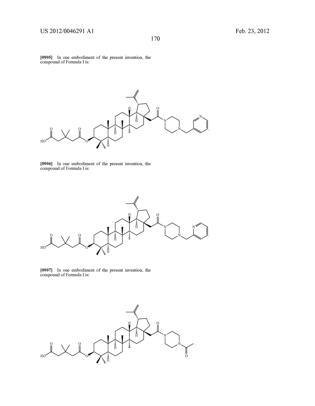 Extended Triterpene Derivatives - diagram, schematic, and image 170