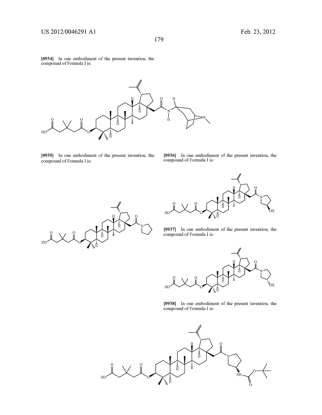Extended Triterpene Derivatives - diagram, schematic, and image 179