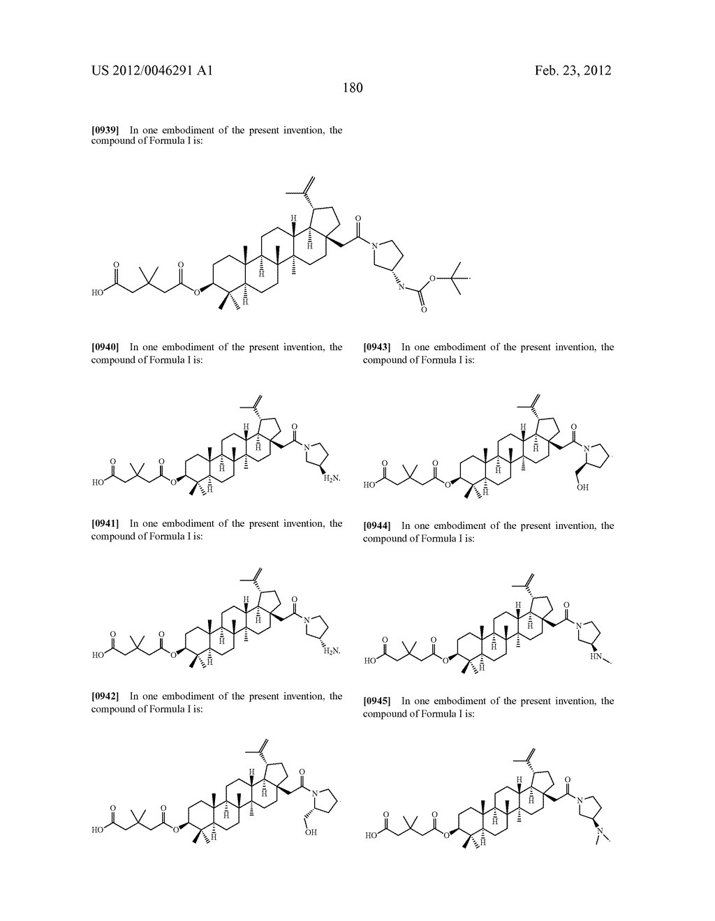 Extended Triterpene Derivatives - diagram, schematic, and image 180