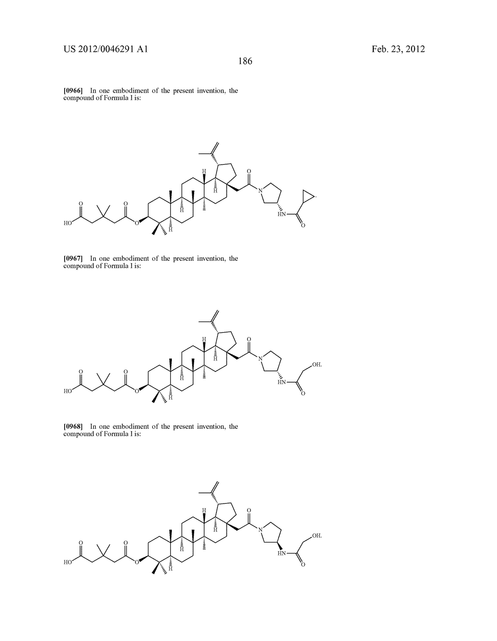 Extended Triterpene Derivatives - diagram, schematic, and image 186