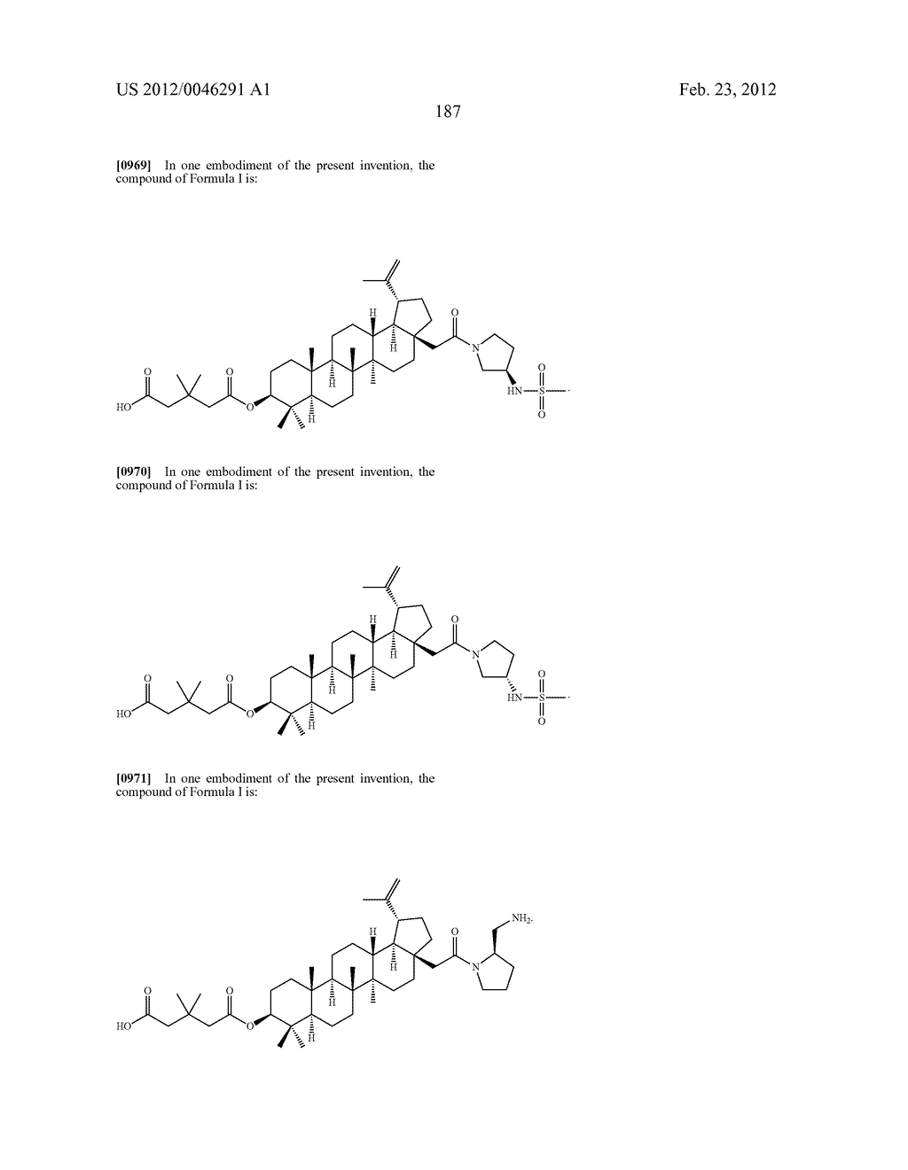 Extended Triterpene Derivatives - diagram, schematic, and image 187