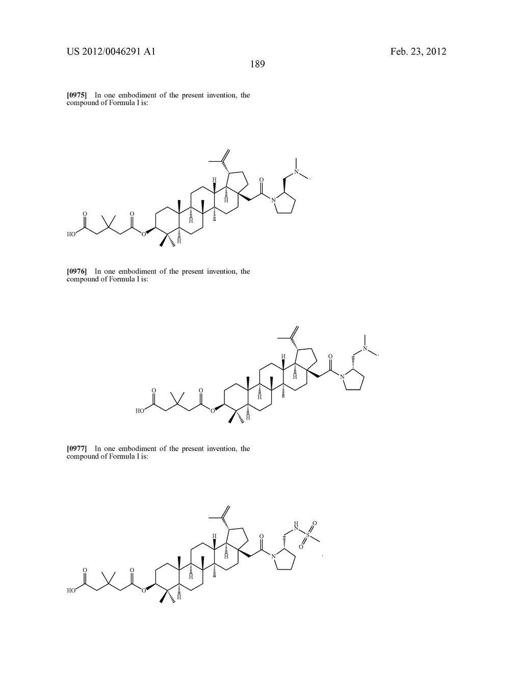Extended Triterpene Derivatives - diagram, schematic, and image 189