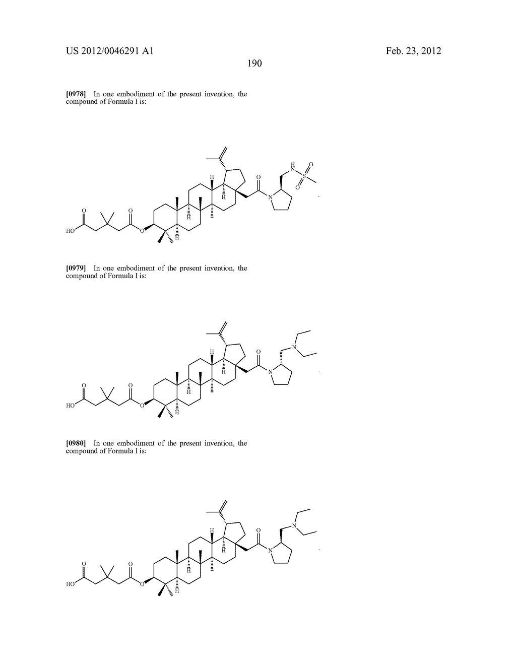 Extended Triterpene Derivatives - diagram, schematic, and image 190