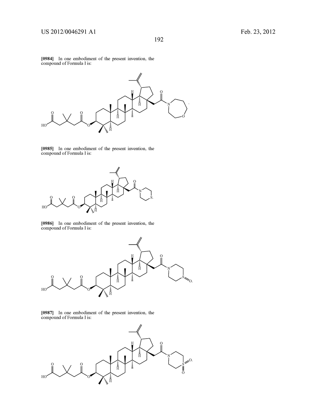 Extended Triterpene Derivatives - diagram, schematic, and image 192
