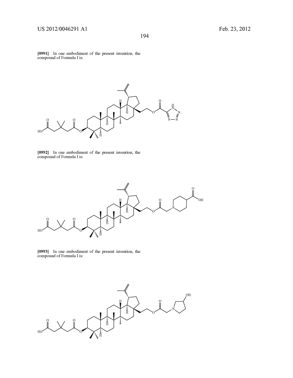 Extended Triterpene Derivatives - diagram, schematic, and image 194